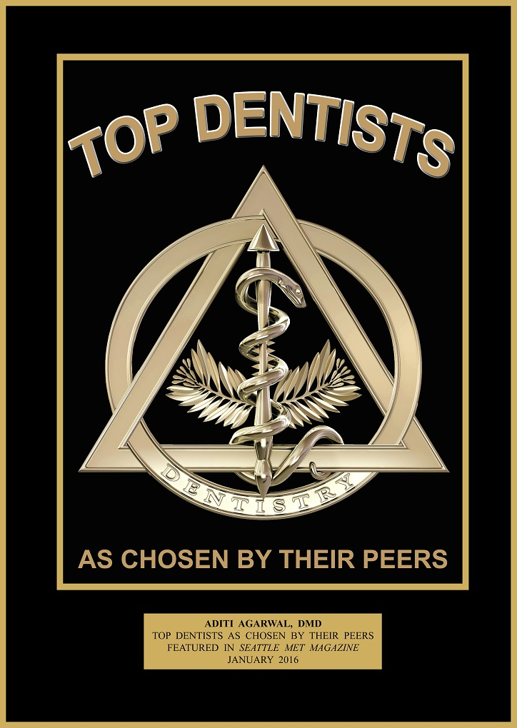 Dr. Aditi Agarwal voted Seattle's Top Dentist by peers in 2016